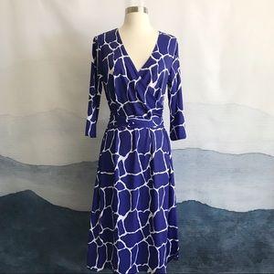 Patty Boutik Giraffe Print Faux Wrap Dress NWT